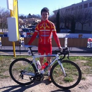 Guillaume Gaboriaud sous les couleurs de l'Occitane CF.